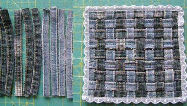 25 идей: вторая жизнь старых джинсов с пользой для дома