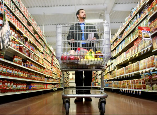 Grocery store layout template